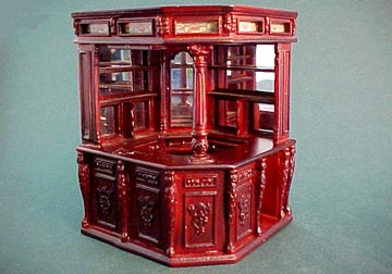 Bespaq Mahogany Olde English Pub Bar 1:24 scale