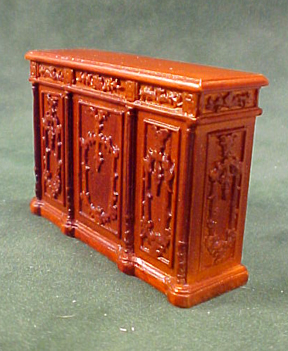 Bespaq Walnut New Castle Bar Counter 1:24 scale