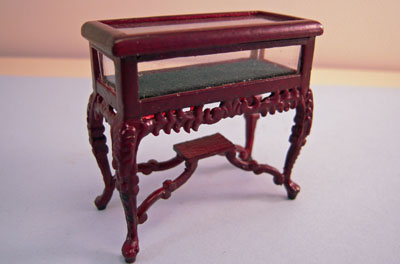 "Bespaq 1/2"" Scale Mahogany Carved Display Counter"