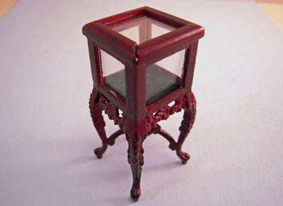 "Bespaq 1/2"" Scale Mahogany Carved Display Curio"