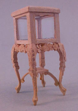 Bespaq Unfinished Carved Display Curio 1:24 scale