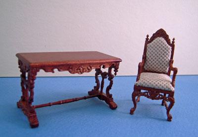 Bespaq Walnut Chestney 2 Piece Library Set 1:24 scale
