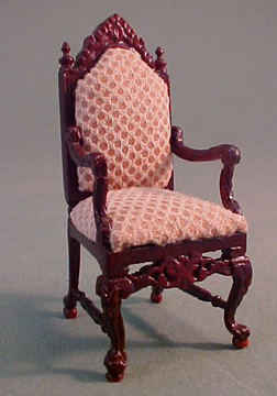 Bespaq Mahogany Chestney Library High Back Chair 1:24 scale