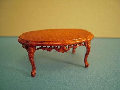 Bespaq Walnut Mederian Coffee Table 1:24 scale