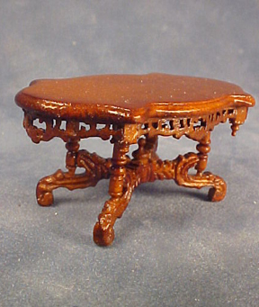 Bespaq Walnut Roosevelt Coffee Table 1:24 scale