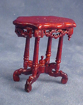 Bespaq Mahogany Roosevelt End Table 1:24 scale