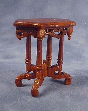 Bespaq Walnut Roosevelt End Table 1:24 scale