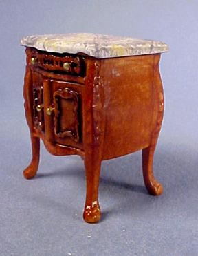 Bespaq Walnut Medium Bombe Table 1:24 scale