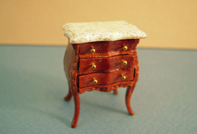 Bespaq Walnut Benoit Bombe Commode 1:24 scale