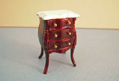 Bespaq Mahogany Small Benoit Bombe Commode 1:24 scale