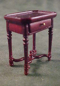 Bespaq French Country Amise Mahogany End Table 1:24 scale