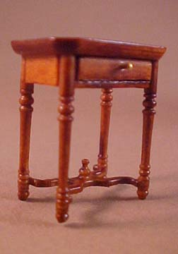 Bespaq French Country Amise Walnut End Table 1:24 scale