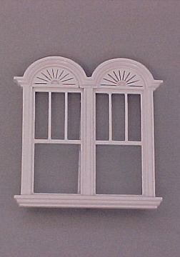 Majestic Mansions Miniature Newport Decorated Double Window 1:12 scale