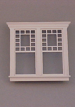 Majestic Mansions Miniature Atherton Decorated Double Window 1:12 scale