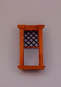 Majestic Mansions Miniature Westfield Decorated Single Window 1:12 scale