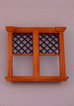 Majestic Mansions Miniature Westfield Decorated Double Window 1:12 scale