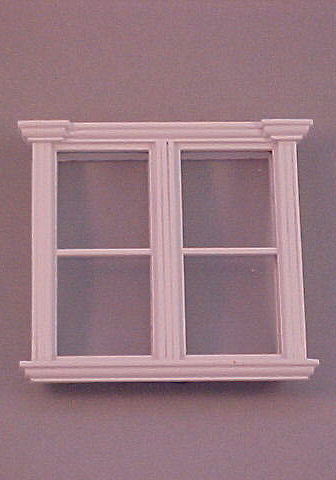 Majestic Mansions Miniature White Westfield Double Window 1:12 scale