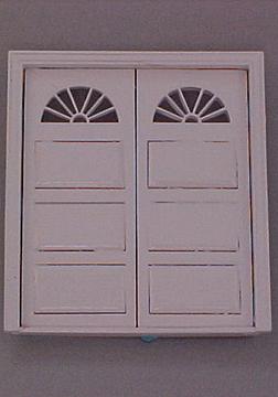 Majestic Mansions White Newport Garage Door 1:24 scale