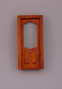 Majestic Mansions Miniature Walnut Stannford Exterior Door 1:12 scale