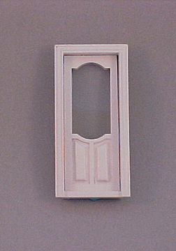 Majestic Mansions Miniature White Stannford Exterior Door 1:12 scale