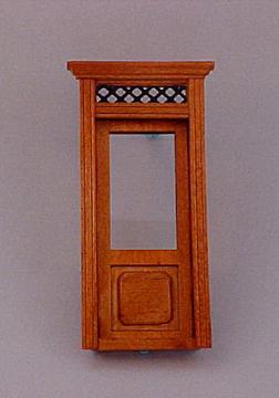 Majestic Mansions Miniature Walnut Westfield Exterior Door 1:12 scale