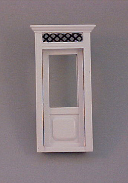Majestic Mansions White Westfield Exterior Door 1:24 scale