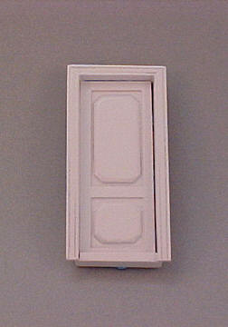 Majestic Mansions White Westfield Interior Door 1:24 scale