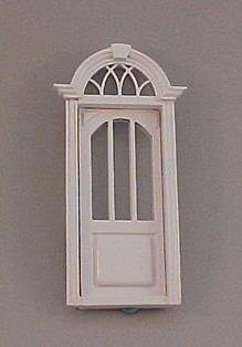 Majestic Mansions Miniature White Cambridge Exterior Door 1:12 scale