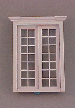 Majestic Mansions Miniature White Classic French Door 1:12 scale