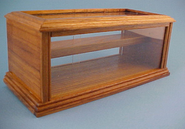 Walnut Store Display Case 1:12 scale