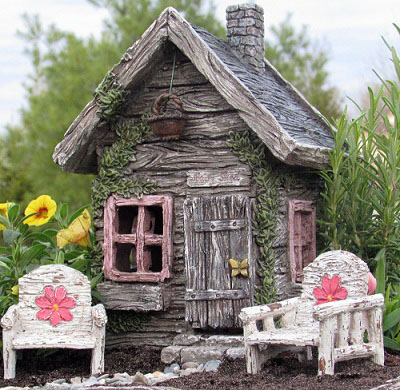 Fairy Garden Fairy Shed Resin Fairy Garden House 1:12 scale