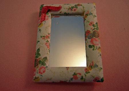 ESTATE SALE Shabby Chic Small Mirror 1:12 scale