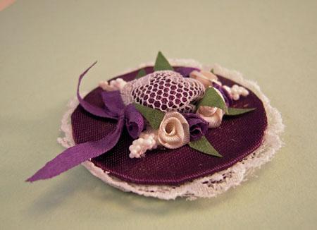 ESTATE SALE Lavender Lace Hat 1:12 scale