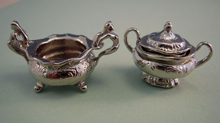 ESTATE SALE Silver Serving Set 1:12 scale