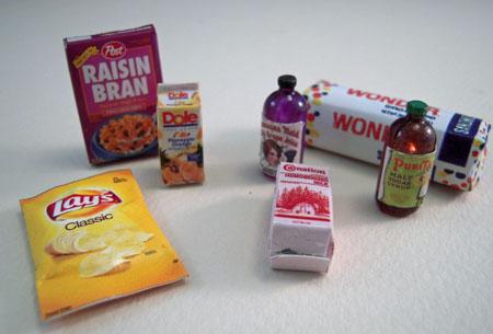 ESTATE SALE Seven Piece Grocery Assortment 1:12 scale