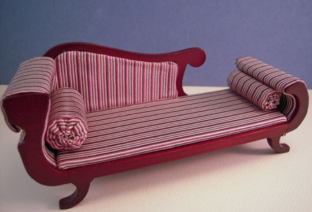 ESTATE SALE Heidi Ott Mahogany Chaise 1:12 scale