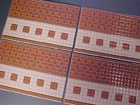 Spanish Wall Tile 1:24 scale