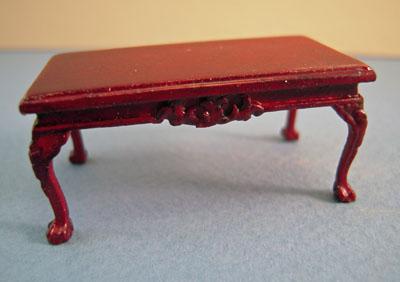 Bespaq Miniature Mahogany Thomas Coffee Table 1:24 scale