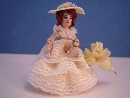 Sally With A Yellow Parasol Miniature Doll 1:24 scale