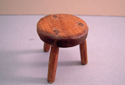 Sir Thomas Thumb Three Legged Milking Stool 1:12 scale