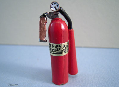 Miniature Sir Thomas Thumb Fire Extinguisher 1:12 scale