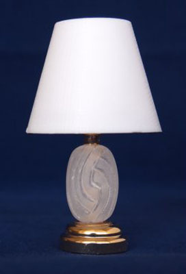 Battery Operated Park Avenue Table Lamp 1:12 scale