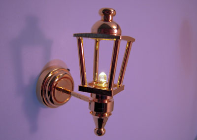 Battery Operated Brass Coach Lamp 1:12 scale