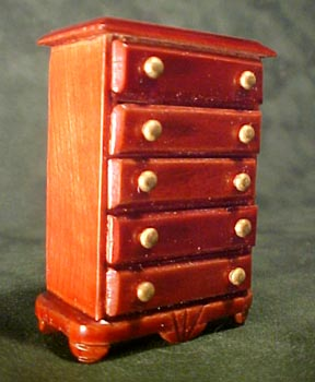 Townsquare Mahogany Chest of Drawers 1:24 scale