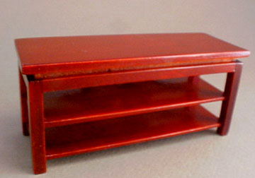 Mahogany TV Stand 1:24 scale