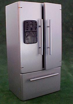 Modern Silver Refrigerator 1:12 scale