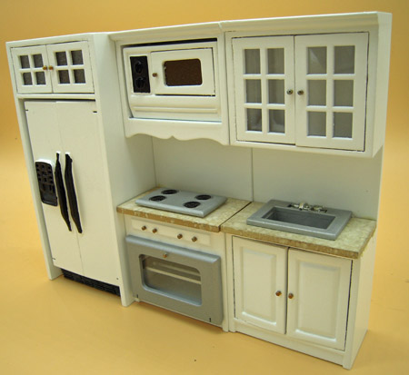 Townsquare Five Piece White Kitchen Set 1:12 scale