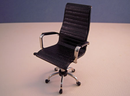 Townsquare Black Director's Office Desk Chair 1:12 scale
