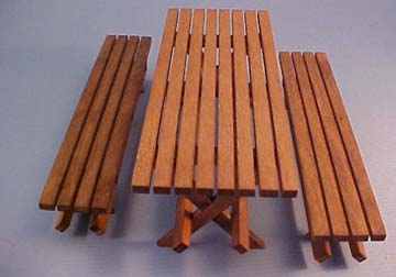 Picnic Table with Benches 1:12 scale