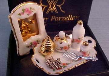 Reutter Porcelain Vanity Tray with Rollers 1:12 scale